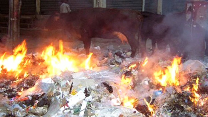 Disposing of plastic